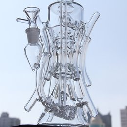 Wholesale New recycler glass bong hot bongs roots TORO water pipe boro bong Hill side glass oil rig break dab dabs recycler Killa glass