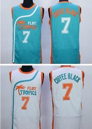 Wholesale Hot sale Flint Tropics Semi Pro Movie Throwback Basketball Jersey Coffee Black Green White Best Stitched Quality