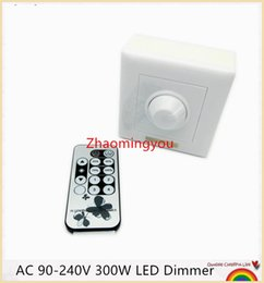 Free shipping 1PCS AC 90-240V 300W LED Dimmer IR Knob Remote control switch for dimmable LED bulb or LED strip lights