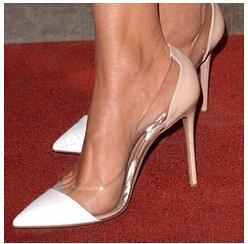 2016 Summer Korean Women New Version High Heeled Professional White Sandals Summer Asakuchi Sandals Sexy Pointed High-heeled Shoe