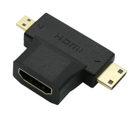 Wholesale New Arrive High Speed in1 Micro HDMI male Mini HDMI male to HDMI Female Cable Adapter Converter for HDTV P HDMI Cables COMBO
