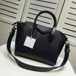Free shipping 100% calfskin leather antigona tote silver hardware brand women handbags with shoulder strap shoulder bags 333
