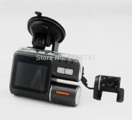 2017 cámaras de guión recuadro negro Cámara caliente i1000 coche DVR de doble cámara de HD 1080P Allwinner Dash Cam Box Negro Con trasero 2 Cam Vista del tablero de instrumentos del vehículo Cámaras presupuesto cámaras de guión recuadro negro