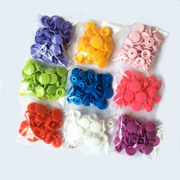 200 Sets T5 Plastic Snap Buttons Fasteners mixed color Snap button 12.4MM Buttons Cheap Buttons Free Shipping