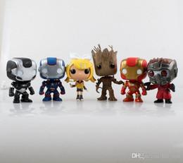 Wholesale 10cm Funko POP The Avengers Kids tpys Iron Man armor captain America space star jenn air ents toys free express