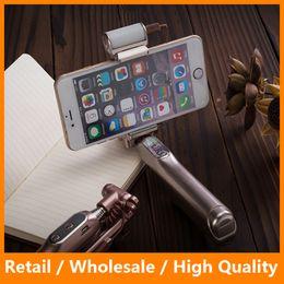 Wholesale Bluetooth Selfie Stick With LED Flash Light Extendable Monopod Mini Selfie Stick for iPhone6Plus sPlus Samsung s7 s7edge