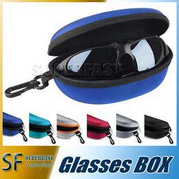 Wholesale Sunglasses case eyeglasses box Glasses bag for Glasses Eyeglasses Sunglass Zipper Hard Colorful