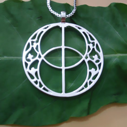 Wholesale Vesica Pisces pendant Silver Gold plated necklaces & pendants for women Free Shipping