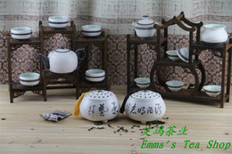 Wholesale ml Tea caddy ceramic Sealed big tank China Storage Bottles Jars snow shape enamel manufacture Chinese style jar