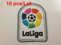 wholesale 2016-2017 Embroidery Liga LFP logo soccer patch soccer Badges Spanish League Patch 10 pcs  Lot free shipping !