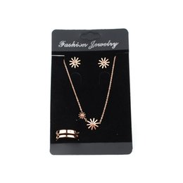 Wholesale 100pcs lot 12cmx7cm Black Velvet Earring Card Display For Jewelry Set Showcase,Necklace Display Card,Ring Card Packaging