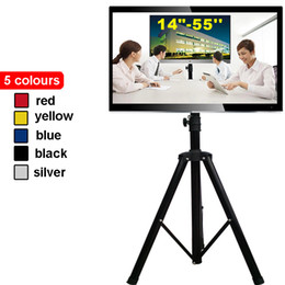 Wholesale 14 quot Movable Folding LCD LED TV Floor Stand TV Mount Cart Display Rack Tripod