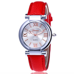 New student exquisite temperament ladies fashion belt casual quartz ladies roman dial dress with Geneva watch