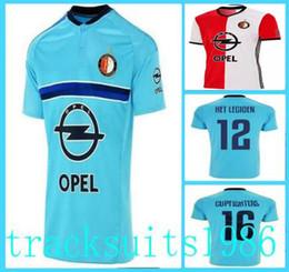 Wholesale 2016 Feyenoord Rotterdam Maillots Chemise HET HETLEGIOEN THAI Grossistes Jersey Away Accueil Thaïlande qualité