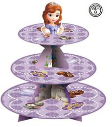 de dibujos animados 1 juego de la niña Sofía la primera princesa Sofía bebé del cumpleaños del partido de ducha de cartón magdalena mantenga de pie 24 pastelitos cupcake baby shower princess deals desde magdalena de bienvenida al bebé de la princesa proveedores