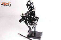 Wholesale KELI FUXING Racing CNC Adjustable Rearsets Rear set footpegs For KAWASAKI NINJA ZX R ZX10R Black