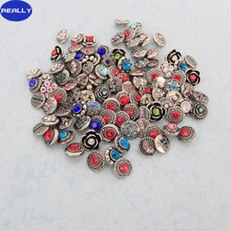 REALLY New Fashion Noosa 12MM Snap Button Charms Rhinestone Pattern Fit Snap Bracelets Ginger Snaps Jewelry Free Shipping