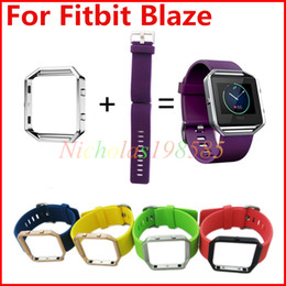 Wholesale Newest Silicone Straps Band For Fitbit Blaze Alta Watch Intelligent Neutral Classic Bracelet Wrist Strap Band With Metal Frame Adjustable