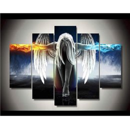 Wholesale Canvas Printings Angeles Girls Anime Demons Painting Wall Art Home Decoration Poster Canvas Unframed