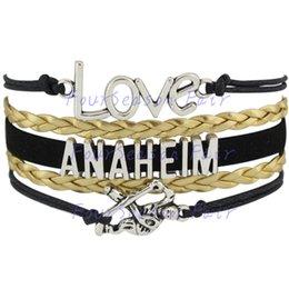 Custom-Infinity Love National Hockey League Anaheim Ducks Bracelet Ice Hockey Player Team Fans Adjustable Bracelet Bangles-Drop Shipping