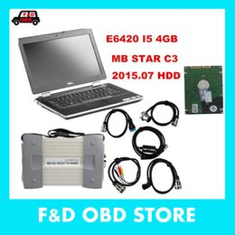 Wholesale Star C3 Tester - 2016new 2015.07 Top Rated Mercedes Tester MB Star C3 full set with 4GB I5 E6420 Laptop installed well DAS +Xentry + WIS + EPC+Sd