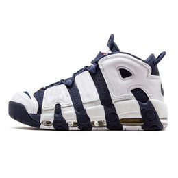 Wholesale Air More Uptempo OG Asia Hoop Pack White Gum Varsity Red Olympic KIDs Shoes Size