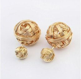 Wholesale Europe and the United States metal braided earrings personality charm unique style earrings zinc alloy earrings best gift