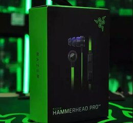 Wholesale Razer Hammerhead Pro V2 In Ear Earphone Headphone With Microphone Retail Box Gaming Headset best quality Noise Isolation mm factorysell