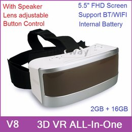 Wholesale 3D VR All In One Headset Virtual Reality Glasses PC Game Android GB GB With FHD Screen Wifi BT Gyro