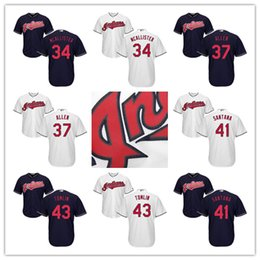 Wholesale 2016 Champions Youth Kids Cleveland Indians Jersey Mcallister Cody Allen Carlos Santana Josh Tomlin Baseball Jerseys