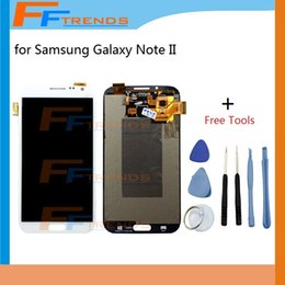 For Samsung Galaxy Note II N7100 LCD Screen & Digitizer Assembly N7105 i317 i605 L900 T889 R950 Gray White Free Repair Tools