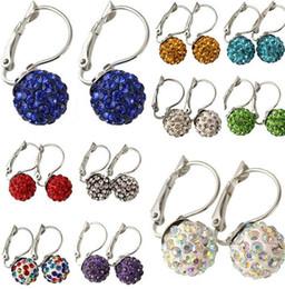 10 colors micro diamond shambhala earring stud for women DFMTE20,new arrival fashion princess earrings jewelry