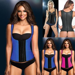 Wholesale Plus Size Waist Training Corsets and bustiers latex Trainer cincher girdles Shapewear slimming belt shaper rubber corset sheath