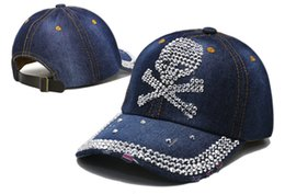 Wholesale Best Deal Good Quality New Fashion Popular logo cap Women Diamond Flower Baseball Cap Summer Style Lady Jeans Hats cheap