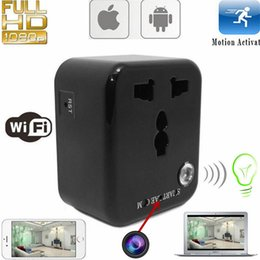 Wholesale Mini caméra P WIFI HD SPY Invisible IP USA Nanny Cam Conversion Socket Head LED Video Recorder Portable Caméscopes Surveillance de sécurité
