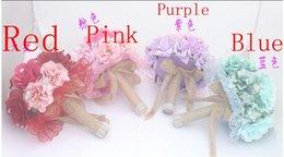 Wholesale Colorful Beach Bridal Flower Buque Casamento Silk Rose Artificial Wedding Bouquet Ribbon For Bridesmaids Elegant Colors