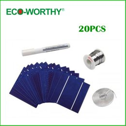 Wholesale mm Poly Solar Cell Kits Solar Photovoltaic Poly Polycrystalline Silicon Solar Cell x5 for Solar Panel