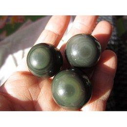 Wholesale Natural obsidian stone crystal ball green eye sphere diameter mm mm ball Energy stone Crystal Healing
