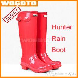 Wholesale Men Women rainboots fashion Knee high rain boots waterproof welly boots Rubber rainboots water shoes colors