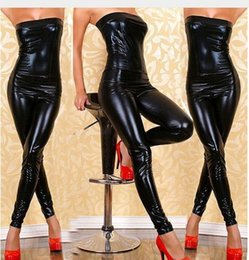 Sexy Lingerie black pu teddy wrapped women teddies one piece hot black pu spling dress+g string+garter 3pcs set sleepwear costume uniform un