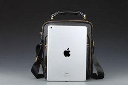 Multifunction large-capacity 100% leather briefcase men shoulder messenger bag handbag new leisure and business man bag
