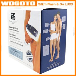Wholesale 2016 hot selling Drop shipping Silk n Flash Go Luxx Hair Removal Device with Flashes Tamp Big Pack DHL Free fast shipping