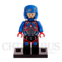 Wholesale The Atom Albert Minifigures DC Super Heroes Justice League DIY Minifigures Assemble Model Building Blocks Kids Toys Gifts