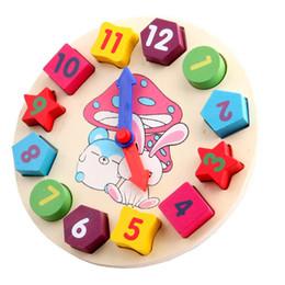 2016 juguete de madera 3D de juguete educativo de los niños del reloj de la geometría de Digitaces Bloques huecos pareado aprendiendo número regalo del juguete del color de la forma desde reloj digital de la geometría proveedores