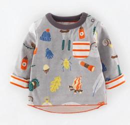 Wholesale BST17 NEW ARRIVAL Little Maven boys Kids Cotton Long Sleeve round collar cartoon print T shirt boys causal spring autumn t shirt