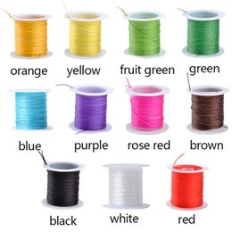 Wholesale Stretchy Bracelet String Wholesale - Wholesale-10M Roll Colorful Stretchy Elastic Rope Cord Crystal String For Jewelry Making Beading Bracelet Wire Fishing Thread Rope WQ*LY