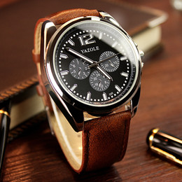 Luxury Man Watch Three Eye Six Pin Fashion Business Watches Band Leather Luminous Dial Sport Man Casual Watch