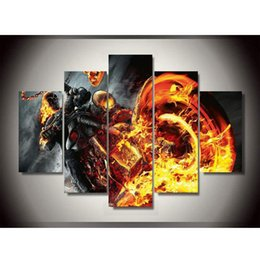 Wholesale Canvas Printings Ghost Rider Painting Wall Art Home Decoration Poster Canvas Unframed