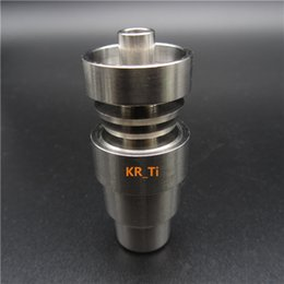Hot sell GR2 14mm and 18mm 4 IN 1 domeless titanium nail jiont male and female for smoking cheap and affordable
