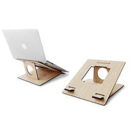 Wholesale Fashion Bamboo Notebook Stands Laptop Cooling Pads Stands Portable Folding Tablet PC Stands for Universal Notebooks zj012